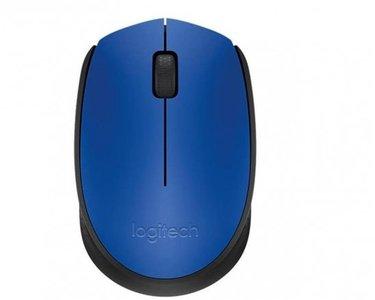 Logitech Mysz M171 niebieska Bezprzewodowa